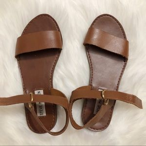 Steven Madden Donddi Tan Leather Sandals